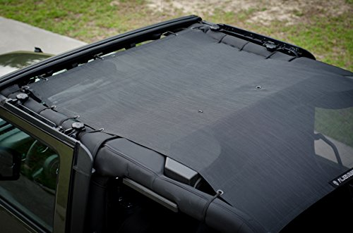 Alien Sunshade for Jeep Wrangler 2-Door JK – Accessories – Mesh Shade Top Covers Front and Back Passengers – JKFB