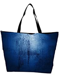 Snoogg Abstract Blue Paint Design Designer Waterproof Bag Made Of High Strength Nylon