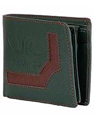 Vagan-kate Upper Design Green Leather Wallet For Men