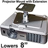 Projector-Gear Projector Ceiling Mount For PANASONIC PT-AE7000 U With Extension Lowers 8