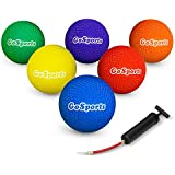 GoSports Playground Ball (Set Of 6) With Carry Bag And Pump, 8.5""