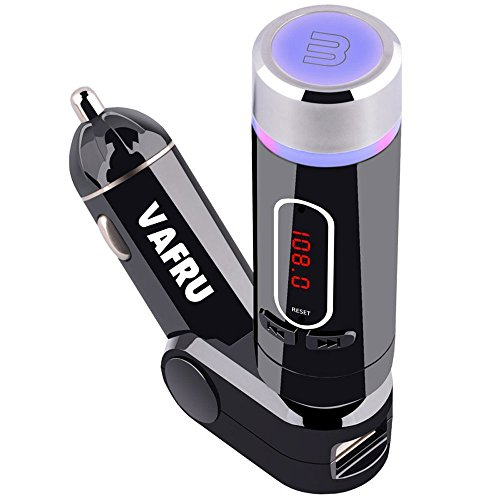 Vafru UFMV9 Wireless Radio FM Transmitter Bluetooth with USB charging Radio Adapter Handsfree Car Kit with Hands-Free Calling, Music Control
