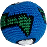 Earth Ball Hacky Sack / Footbag Hand Crocheted Made In Guatemala Comes With Tips & Game Instructions G1