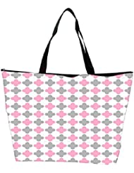 Snoogg Abstract Design White Pattern Designer Waterproof Bag Made Of High Strength Nylon