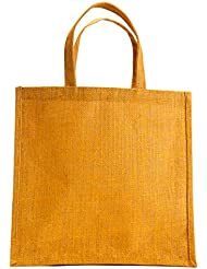 "WMM Craft Jute Tote, Jute Handbag/GIFT Bag/Shopping Bag/Carrying Bag, 100% Organic Jute 12""x12""x5.5"""