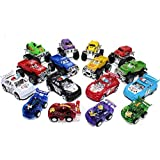 16 Pull Back Cars And Trucks Deluxe Combo Bundle , (Includes 4 Monster Pull Back Trucks - 4 Pull Back Pick Up...