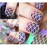 12 Tips/Sheet Rose Nail Vinyls Maple Leaves Nail Art Stencils Holo Nail Stickers JV215 # 23537