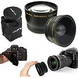 PIXI-GEAR I3ePro 58mm . 43x Wide Angle Lens + 2. 2x Telephoto Lens For 58mm Thread Lenses For Canon Lenses
