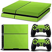 Gam3Gear Vinyl Sticker Pattern Decals Skin For PS4 Console & Controller- Leather Green