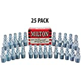 Milton 777 (25 Pieces) A Style Air Hose Fittings 1/4 Male NPT Coupler Plugs
