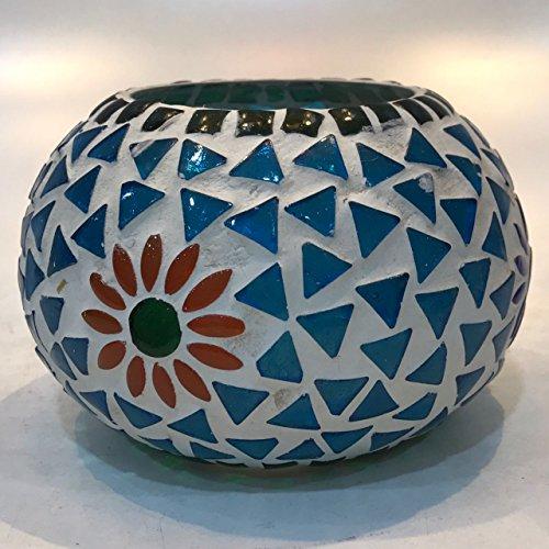 Dlite Crafts Multicolor Polka Design Home Decorative Votive Candle Holder, Set Of 2 PCs - B06XZJB63G