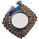 Ghanshyam Art Wood Peacock Wall Mirror (35.56 Cm X 4 Cm X 38.1 Cm, GAC092)