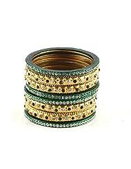 Vidhya Kangan Sizzling Lakh Metal Bangles Set Multicolour-2.4