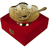 Jaipur Ace Silver And Gold Plated Brass Bowl (Absg00022 )
