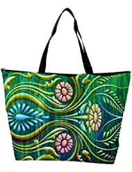 Snoogg Abstract Floral Designer Waterproof Bag Made Of High Strength Nylon - B01I1KL0D6