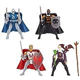 True Legends Knights 4 inch Action Figure 4 Pack - King Arthur, Lancelot, Black Knight and Merlin