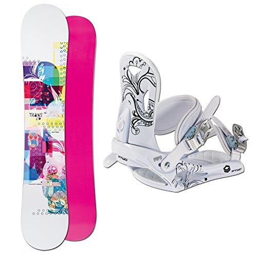 TRANS Snowboard SET LTD Girl 156cm white 2014 + Pipe white Gr. M