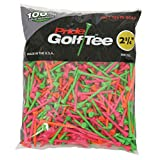 Pride Golf Tee, 2-3/4-Inch Deluxe Tee, 500 Count, Citrus Colors