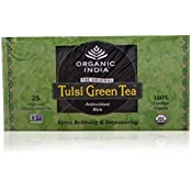 Organic India Tulsi Tea - Green Tea, 25 Bags Carton