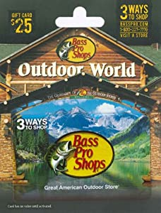bass pro shop gift card balance amazon com bass pro shops gift card 25 gift cards 7539