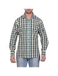 Stoke Jeans UGIM111 Men's Full Sleeve Slim Fit Shirt-Green