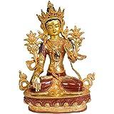 Exotic India White Tara - Copper Statue Gilded With 24 Karat Gold