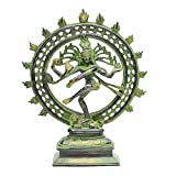 Indian Arts Shop Medium Nataraja In Antique Finish Brass (6.35 Cm X 10.16 Cm X 23.88 Cm, )
