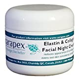 Carapex Natural Anti-aging Night Cream With Elastin & Collagen For Dry To Combination Skin Fragrance Free Perfect...