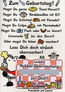 Sheepworld Geburtstagskarte Gutschein perfektes Dinner
