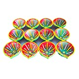 Word Tree Decorated Diwali Diyas, Vibrantly Hand Painted, Multi Coloured- Set Of 12- Combo 11