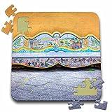 Danita Delimont - Tuscany - Italy, Sorrento, Amalfi Coast, Bench in The Town - EU16 TEG0509 - Terry Eggers - 10x10 Inch Puzzle (pzl_138318_2)