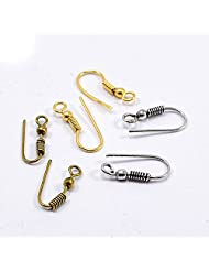 Silvesto India US 19912 Gold Plated Silver Plated & Brass Plated 6 Pcs Hook US 19913 Jewelry