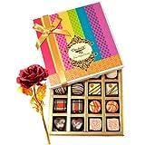 Valentine Chocholik's Belgium Chocolates - Sweet Sensation Of Dark And White Truffles And Chocolate Box With 24k...