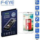 F-EYE® LG L65 Tempered Glass, Ultra Clear Screen Protector, 0.33mm Thickness ,2.5D Round Edge, 9H Hardness Mobile...