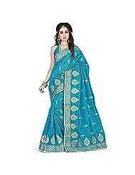 EthnicCrush Sky Blue KANCHI SILK & DUPIAN Saree