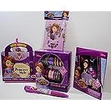 5 Piece Bundle Disney Sofia The First: Toy Bangles Set, Activity Book, Pen, Diary, Sparkling Scratch & Reveal