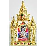DollsofIndia Bal Gopal On Stone Studded And Golden Carved Metal Frame - Metal Frame - B00LD5SFM6