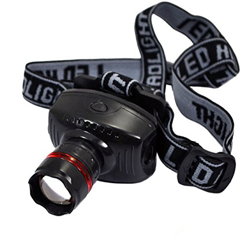 Uniek Deals 3W Adjustable Zoom Head Lamp Strong LED Light 3 Mode Waterproof Headlamp With Free Key Chain