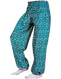 Rajsthani Mandala Hand Block Print Peacock Alibaba Afghani Trouser - B06XYT5FYY