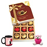 My Special Love Treat With Love Mug And Teddy - Chocholik Luxury Chocolates