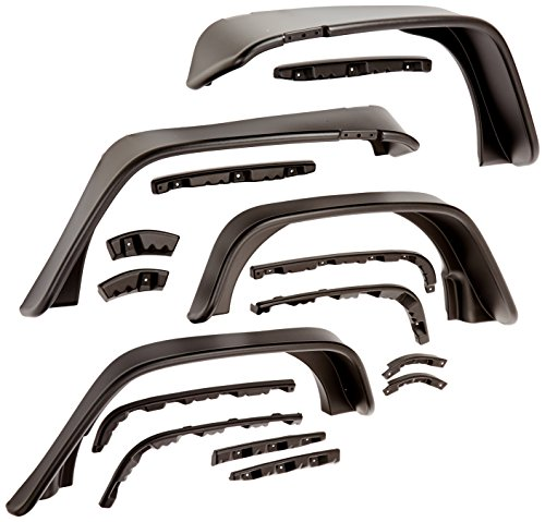 Bushwacker Jeep Flat Style Fender Flare Set of 4