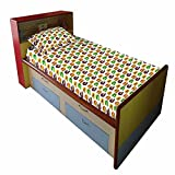 """The Kids Decor Helmet Premium Single Bed Sheet ( 60"""" X 90"""" ) With 1 Pillow Cover In 100% Cotton Percale 200 TC"""