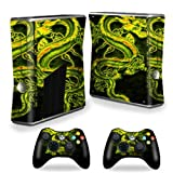 Mightyskins Protective Vinyl Skin Decal Cover For Microsoft Xbox 360 S Slim + 2 Controller Skins Wrap Sticker... - B00CXPHKCQ