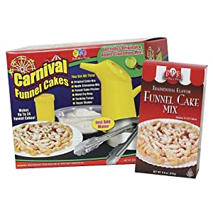 funnel cake kit set carnival deluxe funnel cakes kit with 4418