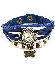 Aaradhya Fashion Blue Butterfly Bracelet Woman Watch