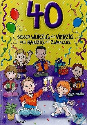 Geburtstagswunsche karte 40