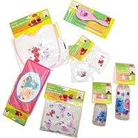 7-piece PINK Sesame Street Newborn Baby Girl Gift Set: Sesame Street Comb And Brush Set, Sesame Street Baby Bib...