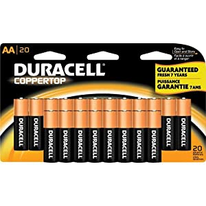 Amazon.com: Duracell Coppertop AA Batteries, 20-Count