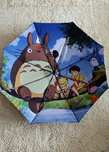 Judy Dre am Japan Miyazaki Neighbor Totoro Automatic Folding Umbrella Ghibli Umbrella Vinyl Uv Umbrella Double Umbrella