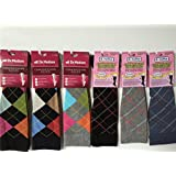 6 Pairs Women Graduated Compression Socks Assorted Colorful All Diamons